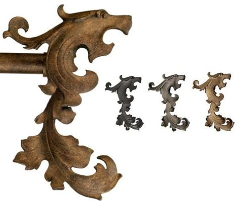 wrought iron drapery rods and finials wrought iron drapery hardware gryphon finial