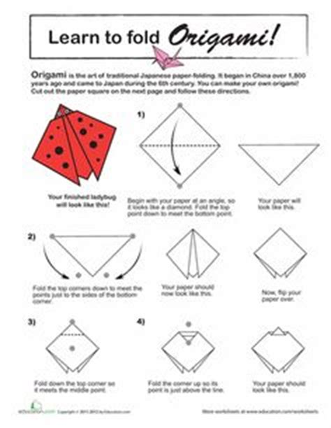 How To Make A Origami Ladybug - 1000 images about origami on origami cat