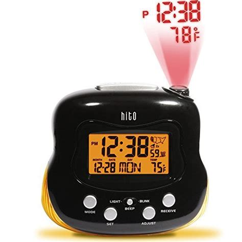 hito atomic radio controlled projection alarm clock w import it all