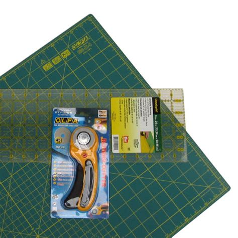 Patchwork Tools And Equipment - deluxe patchwork starter pack discounted rotary cutting