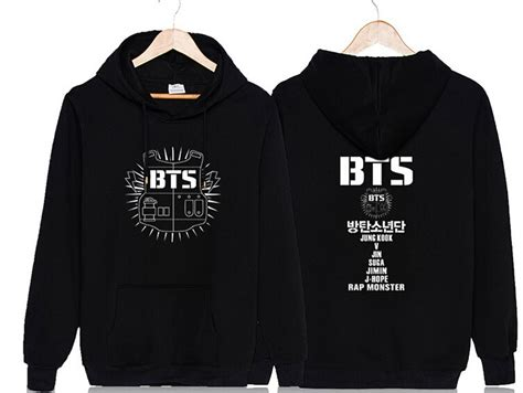 Hoodie Jumper Kpop Bangtan Boys Bts Logo Besar 1 k pop bangtan boys suga clothes sleeves