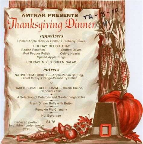 a thanksgiving feast amtrak history of america s railroad