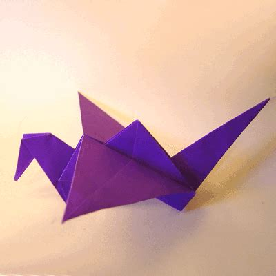 Folded Paper Birds - origami flapping bird