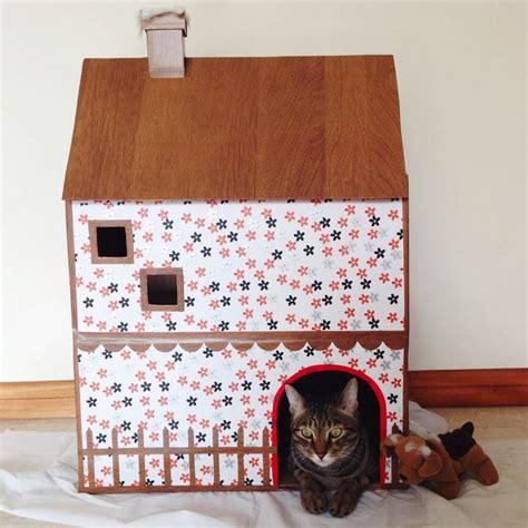 diy cardboard cat house diy cardboard cat house diy pinterest