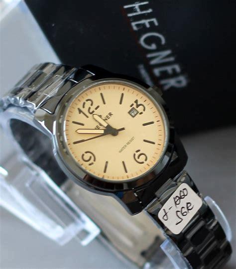 Hegner Hg4213 Silver Black B Original original 100 hegner jam tangan hegner wanita pria garansi showroom resmi