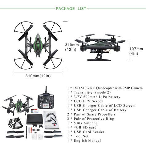 Original Bergaransi Jxd 512w 2 4g 4ch 6 Axis Mini Wifi Fpv original jxd 510g 2 4g 4ch 6 axis 5 8g fpv 2mp rtf rc quadcopter d3k7 ebay