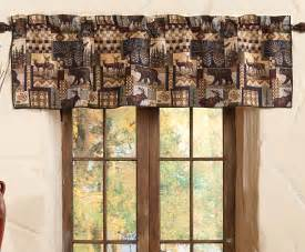 Lodge Curtains Woodland Cabin Valance