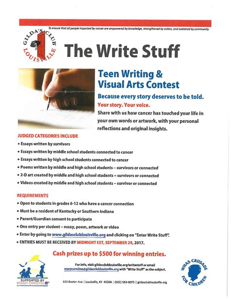 The Write Stuff Essay Contest by News County Middle School