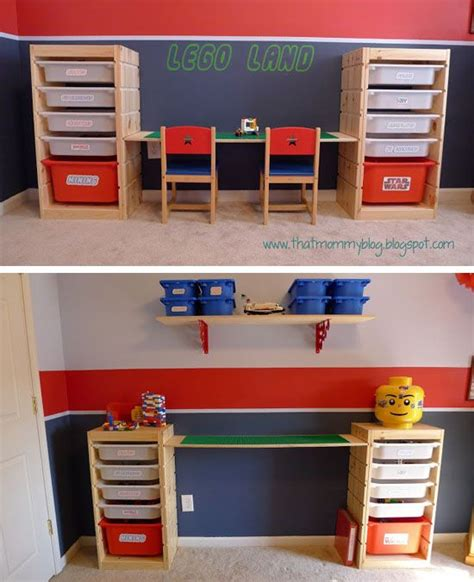 Lego Storage Desk ikea hacks adjustable height lego playtable and storage unit from trofast furniture and