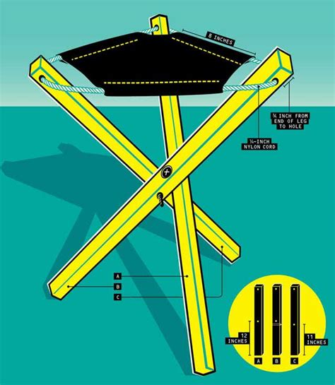 diy tripod c chair build this portable canvas stool