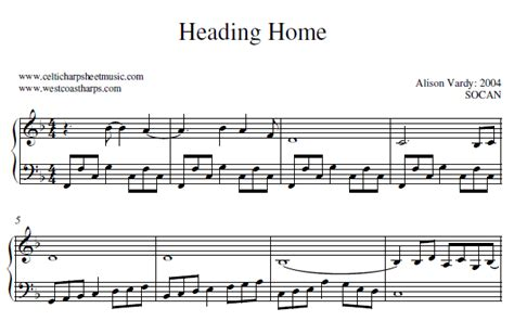 celtic harp sheet 03 heading home