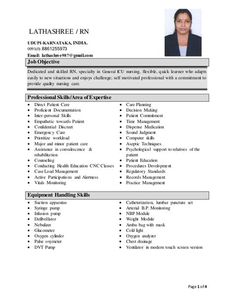 Midwife Resume Objective lathashree cv2
