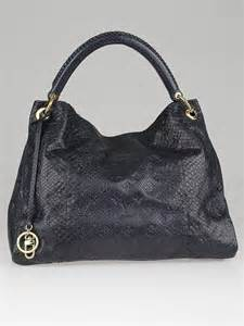 louis vuitton artsy mm bag louis vuitton limited edition navy blue python artsy mm