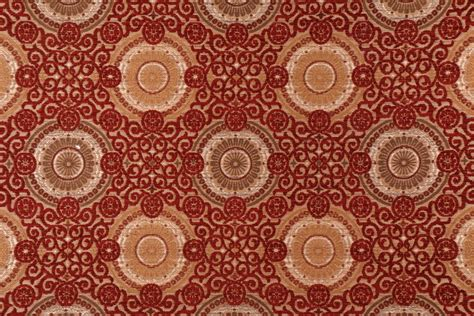 4 1 yards chenille damask upholstery fabric in ruby