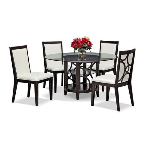 pearl ii 5 pc dinette 54 quot table value city