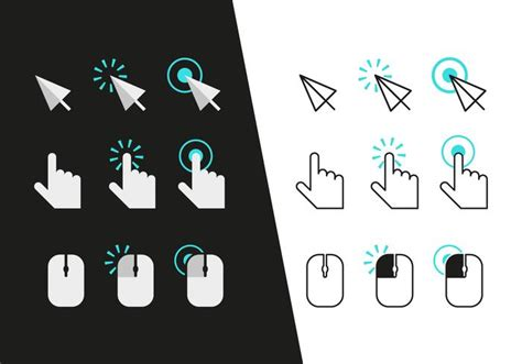 Mouse A4tech 2x Click mouse click icons vector free vector stock