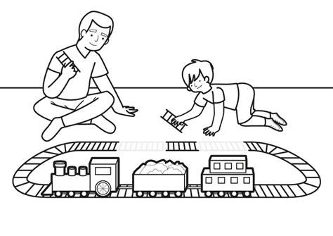 Imagenes Infantiles Para Colorear De Trenes | tren el 233 ctrico dibujo para colorear e imprimir