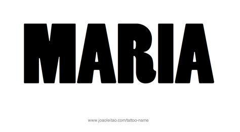 maria name tattoo design name 10 png