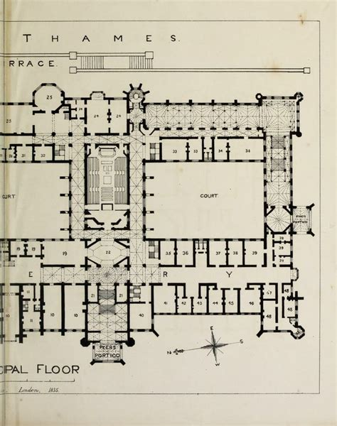 houses of parliament floor plan designs for the proposed new houses of parliament 1836