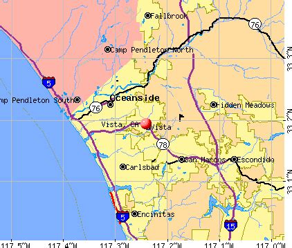 map vista california map of vista california california map
