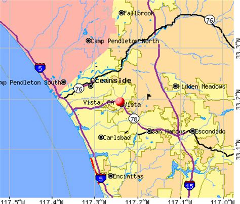 map of vista california images