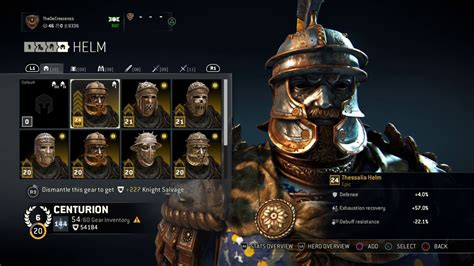 honor centurion gold epic thessalia armor set