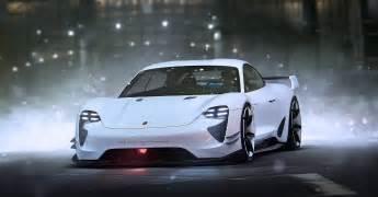 Future Porsche Porsche Mission E Concept Car Future White By Khyzyl