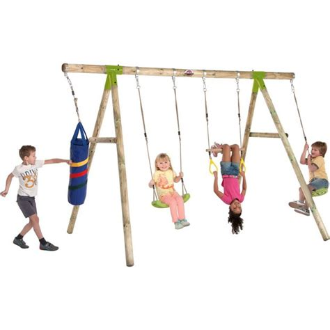 argos swing buy plum capuchin wooden pole swing set at argos co uk