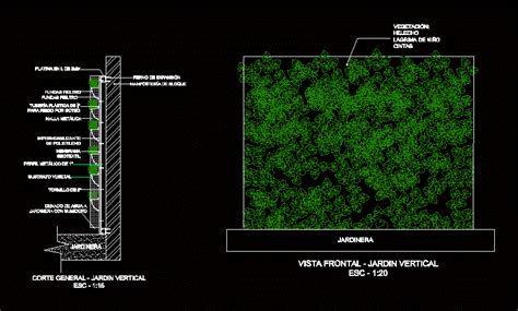 detail  plant wall dwg detail  autocad designs cad