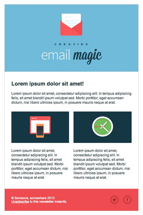email template ideas build an html email template from scratch tuts web
