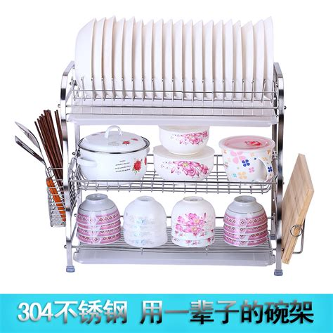Stainless Steel Wall Mounted Plate Rack by 304 Stainless Steel Bowl Rack Drain Basket Rack Wall
