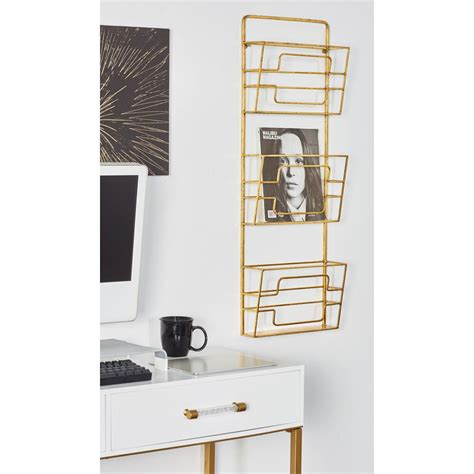 Modern Wall Mounted Magazine Rack by Household Essentials Banana Leaf Magazine Rack Ml 6017