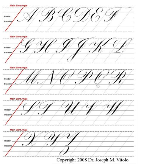 Calligraphy Worksheets by Copperplate Guidelines Type Calligraphy