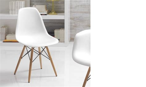 chaise blanche et bois 2833 chaise blanche et bois clair moderne xanda lot de 4