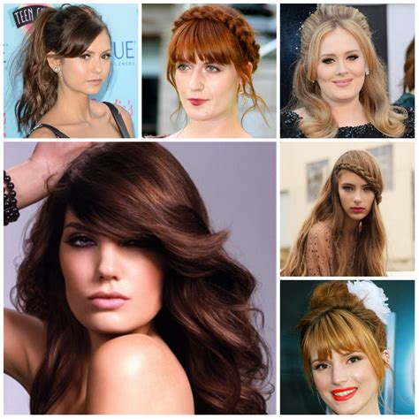 current hairstyles with bangs to hide a large nose best bang hairstyle ideas for big foreheads new haircuts