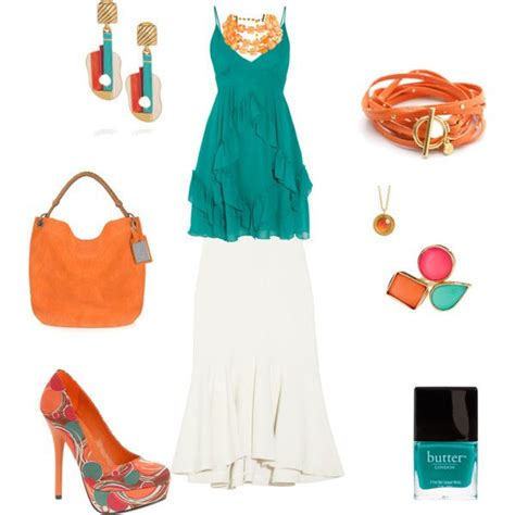 Cait Skirt Orange 144 best images about wedding ideas teal and orange on