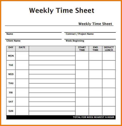 simple weekly timesheet template weekly timesheet template authorization letter pdf