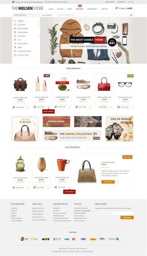 theme item list nielsen e commerce wordpress theme by sara p themeforest