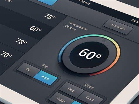 heating air conditioning ui by cipriano dribbble