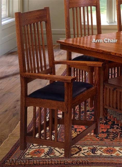 mission dining room set usa made mission style oak dining room set