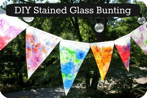 How To Make Stained Glass With Wax Paper - how to make a stained glass bunting beautiful