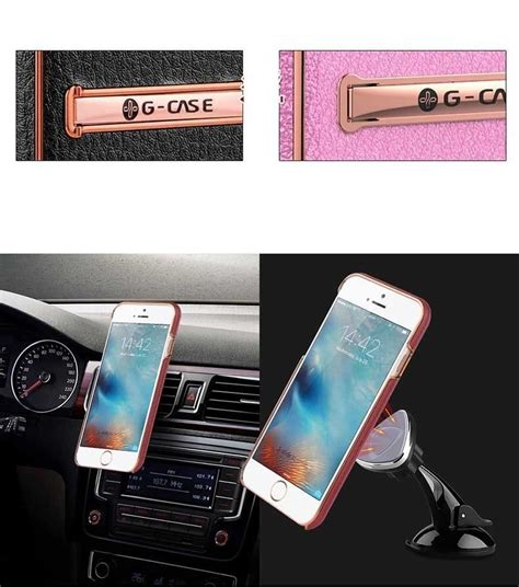 g 174 apple iphone 8 plus ultra thin leather with electroplating inbuilt click metal stand
