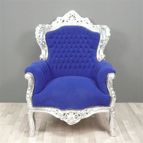 blue armchair baroque blue armchair baroque