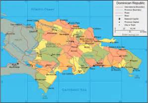 Map Of United States And Dominican Republic dominican republic tourist destinations