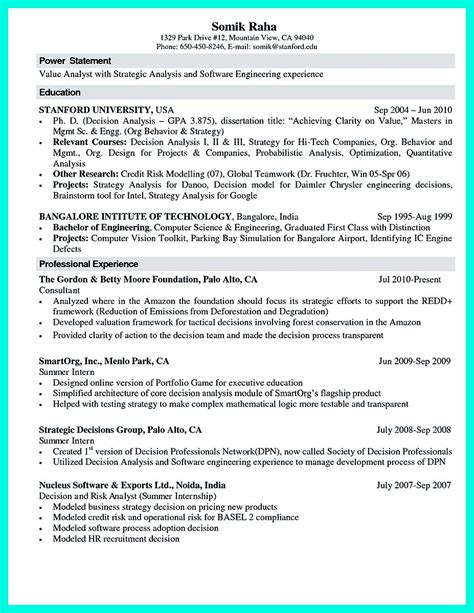 standard resume format for computer science engineers the best computer science resume sle collection