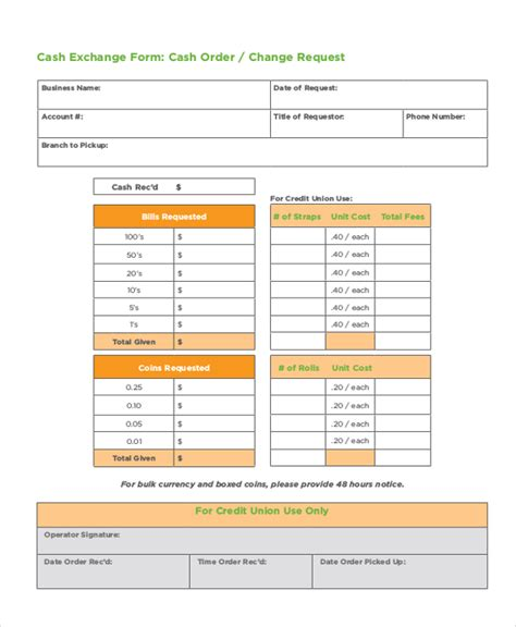Money Order Template by 8 Money Order Forms Free Sles Exles Format