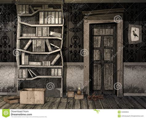 dusty room spooky children s room stock images image 34096964