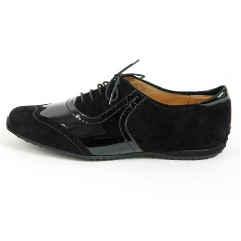 lace up shoes kaiser rosana flat lace up shoes in black flat
