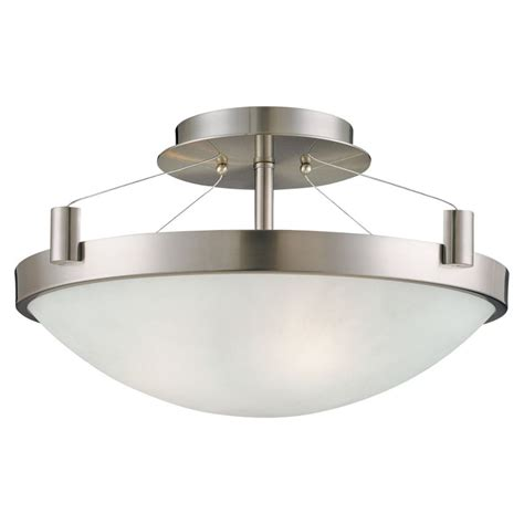 Kovacs Lighting Fixtures Kovacs P591 084 Brushed Nickel 3 Light Semi Flush Ceiling Fixture In Brushed Nickel From The