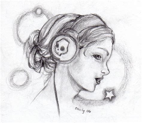 with headphones by swamp monster on deviantart